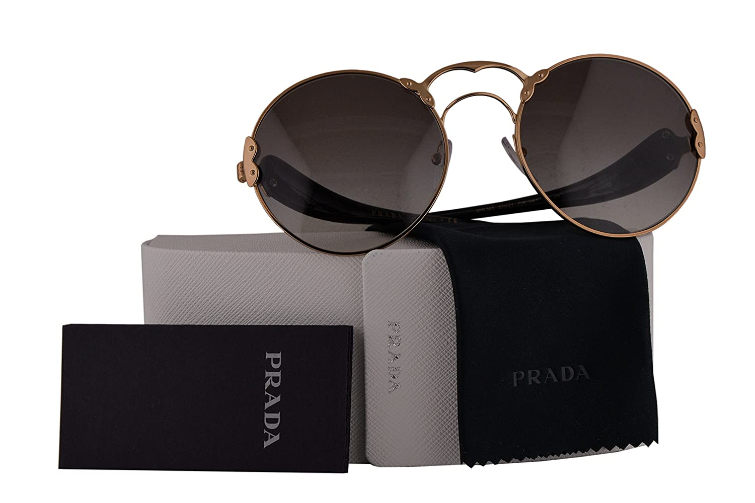 ce02627bf4 Prada Authentic Sunglasses PR55TS Antique Gold w Grey Gradient Lens 7OE0A7  SPR55T (57mm)  Amazon.ca  Clothing   Accessories