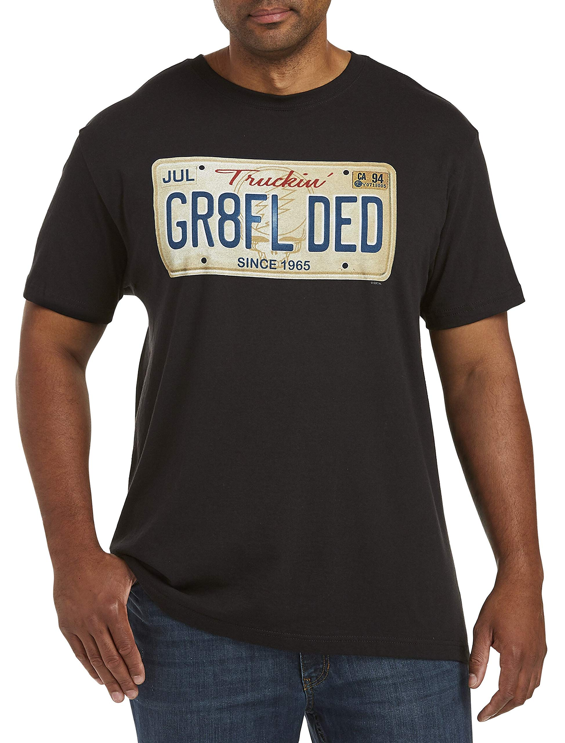 True Nation by DXL Big and Tall Grateful Dead Plate Graphic Tee, Black