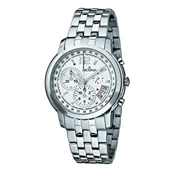 d97f3b7db8a Image Unavailable. Image not available for. Color  Grovana Men s 1581-9132  Traditional Analog Display Swiss Quartz Silver Watch