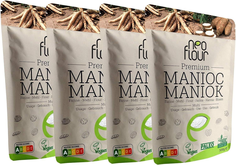 2 Kg Premium Harina de Yuca (Mandioca) - 100% Natural y Sin Gluten - Vegan - envío gratis: Amazon.es: Alimentación y bebidas