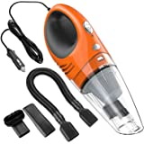 Car Vacuum Cleaner High Power LIBERRWAY DC 12v 3.6Kpa Portable Handheld Car Vacuum Wet Dry Lightweight Auto Vacuum Cleaner Tools with Cigarette Lighter Plug, 14ft Power Cord - 105 Orange