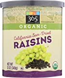 365 Everyday Value, Organic Raisins, California Sun-Dried, 12 oz