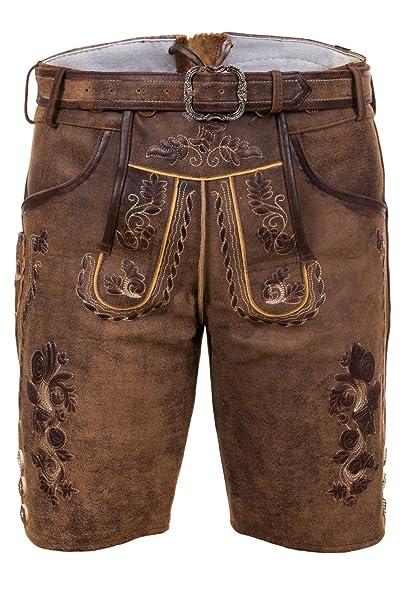 Amazon.com: Edelnice Trachtenmode - Pantalones de piel para ...