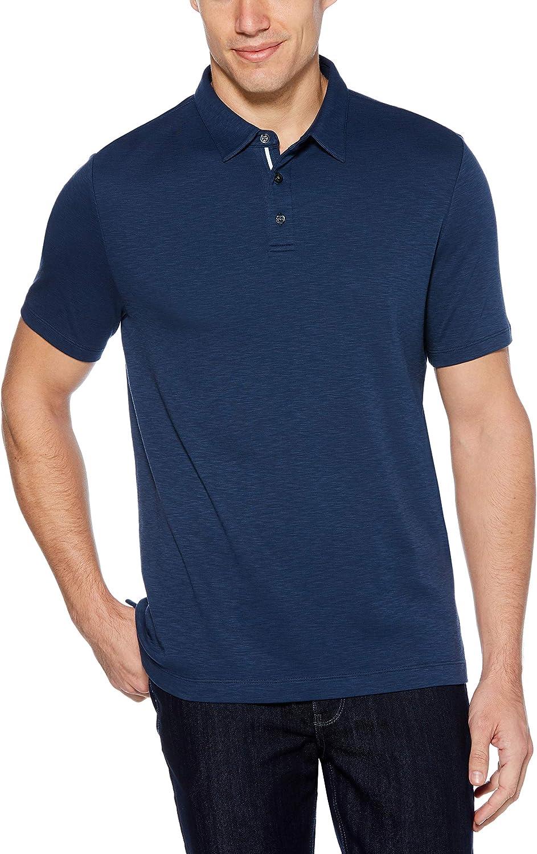 Perry Ellis Mens Ultra Soft Touch Slub Polo Shirt Polo Shirt