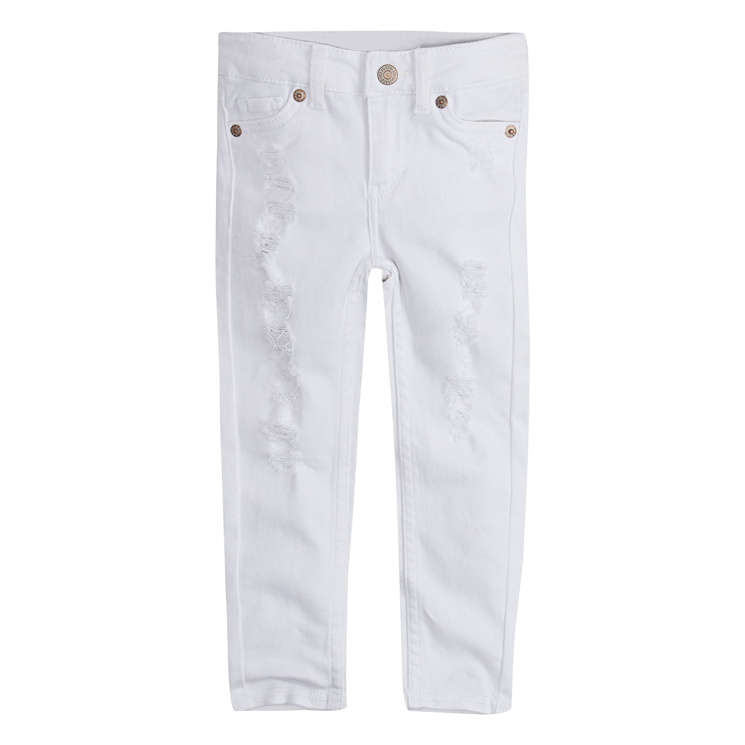Levi's Girls' Little 710 Skinny Fit Jeans, White, 6X