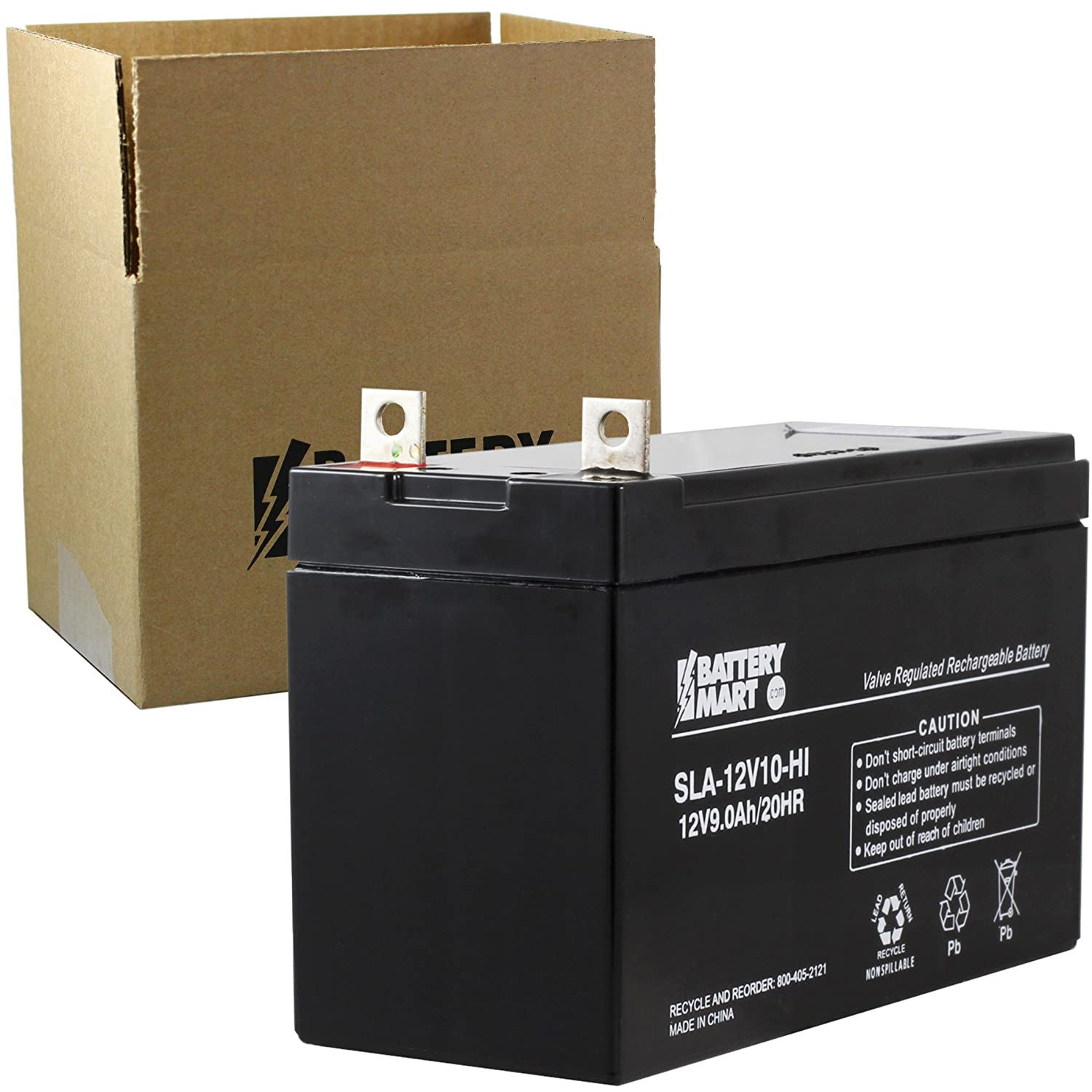 AB47700 Replacement 12 Volt 9 Ah Sealed Lead Acid Rechargeable Battery with B1 1//4 Nut and Bolt Terminals Replaces: PS-1290NB UPS12580 PS1290NB Generac 0G9449 Generator Battery and MORE! 6-FM-9