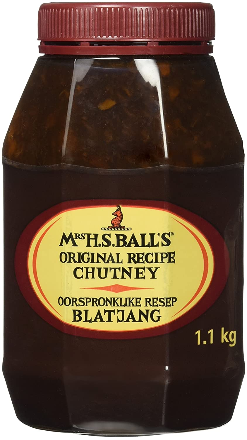 Mrs H.S.Ball's Original Chutney (1.1Kg wide mouth plastic bottle) - Imported from South Africa