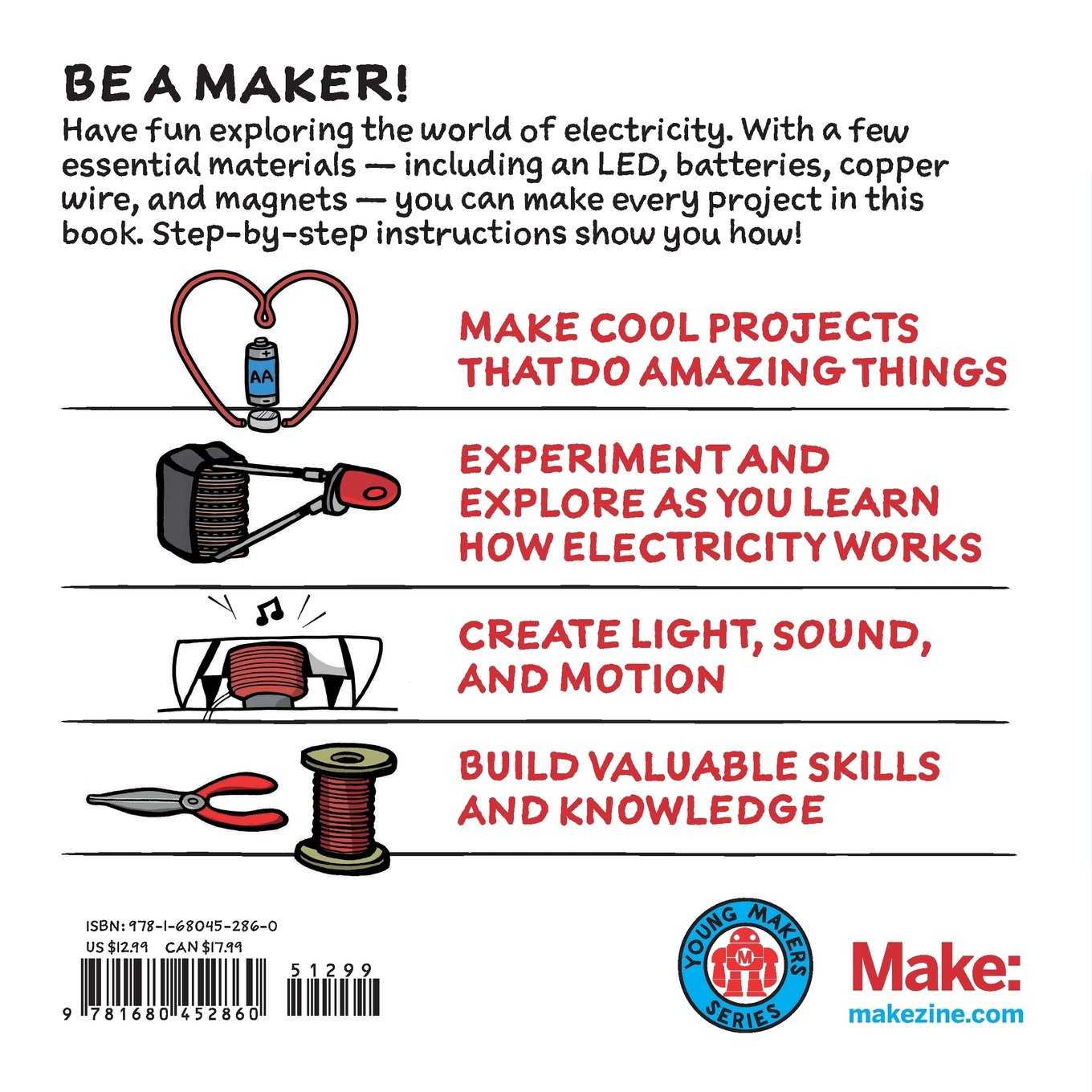 Electricity for young makers fun and easy do it yourself projects electricity for young makers fun and easy do it yourself projects marc de vinck 9781680452860 amazon books solutioingenieria Images