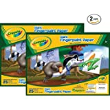 Crayola 99-3405 25 Count Giant Fingerpaint Paper (Pack of 2)
