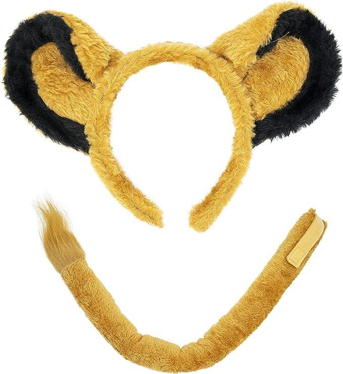 Juego de accesorios para disfraz de diadema de león y orejas y ...