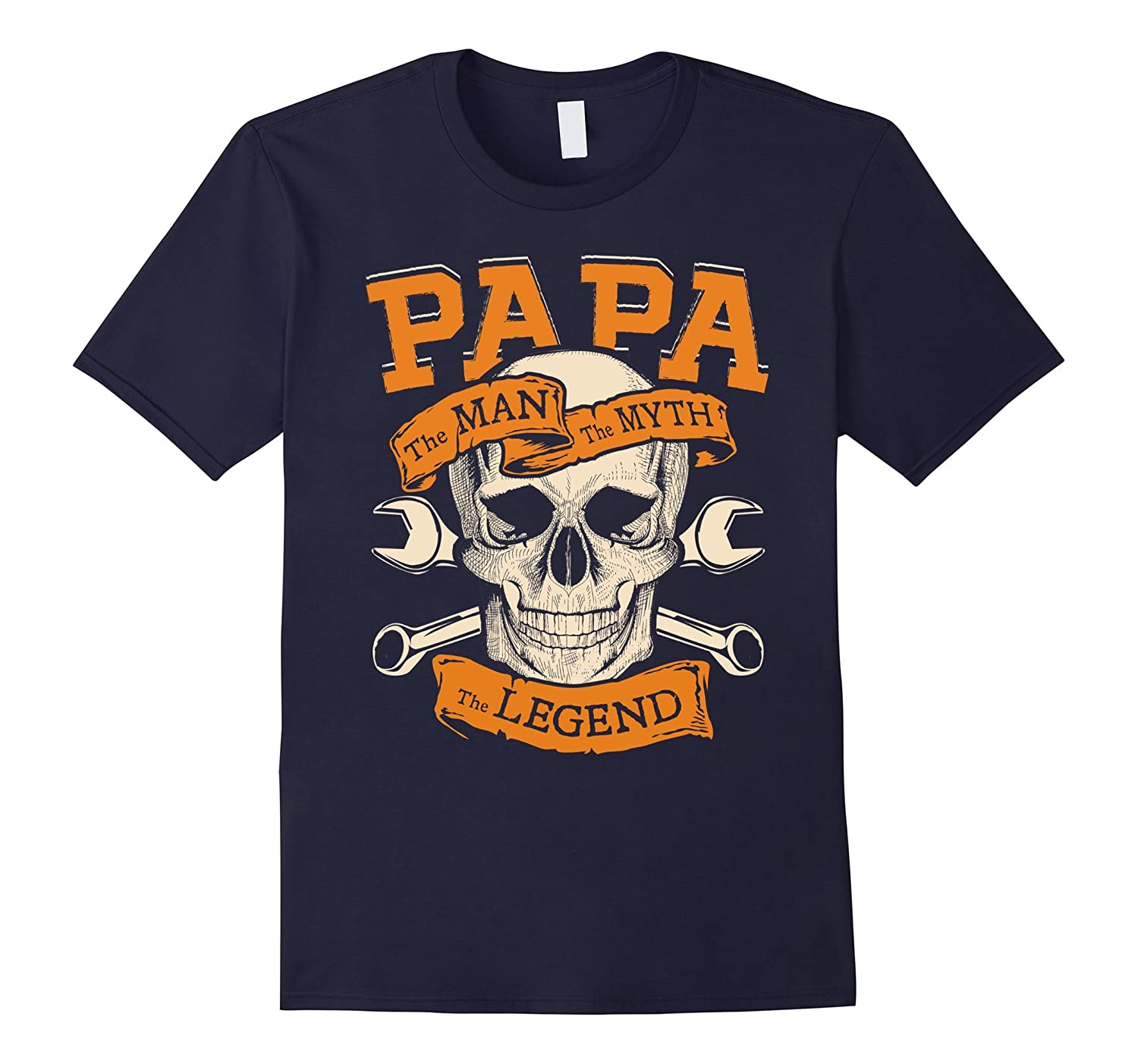 PAPA the MAN the MYTH the LEGEND Awesome Tshirt Sugar Skull-TH