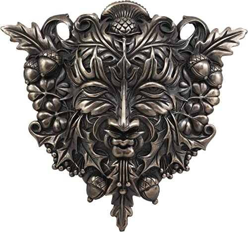 Ebros Faux Bronze Acorn and Clover Greenman Unique Wall Plaque Sculpture