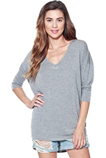 cd6e78f75c A+D Womens Tops - Thin Dolman Long Sleeve Knit Pullover Blouse Top ...