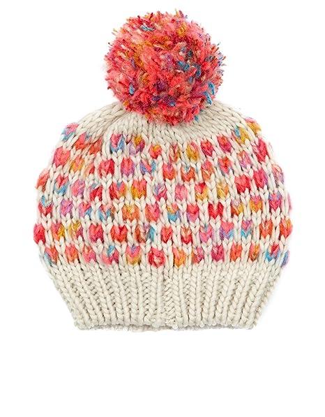 Accessorize donna berretto di lana con pompon multicolore 7-12 Anni  Amazon. it  Abbigliamento 19f57bd7d3ae