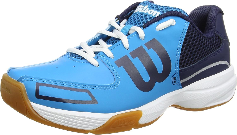 Wilson Unisexe Chaussures de Tennis Pour les terrains int/érieurs STORM Id/éal pour les joueurs de tous niveaux Tissu Synth/étique