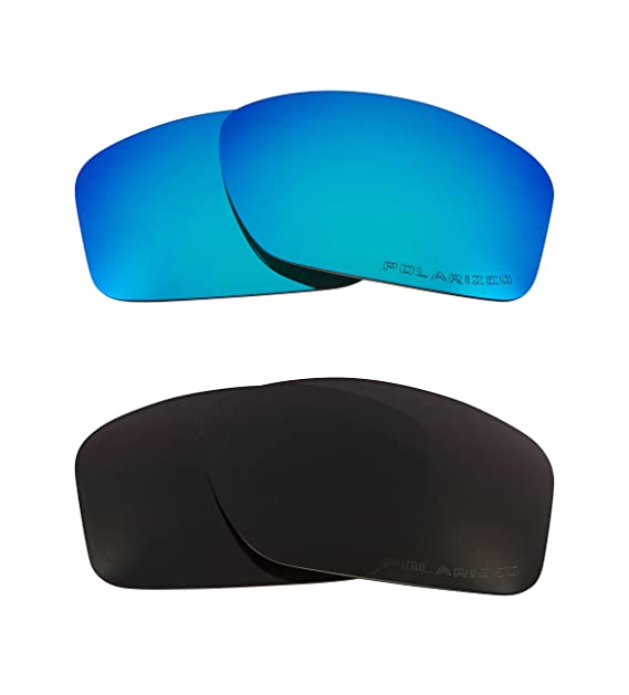 8e1ac6ce81 Image Unavailable. Image not available for. Color  VALVE Replacement Lenses  Polarized Black   Blue by SEEK fits OAKLEY Sunglasses