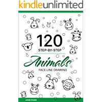 Animal Face Line Drawing: 120 STEP-BY-STEP Pig, Lion, Dog, Cat...: Draw the hand with the simplest stroke