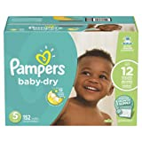 Amazon Price History for:Pampers Baby-Dry Disposable Diapers Size 5, 152 Count, ONE MONTH SUPPLY