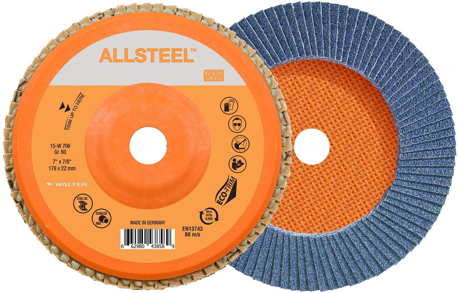 Walter 15W706 FLEXSTEEL Flap Disc [Pack of 10] - 60