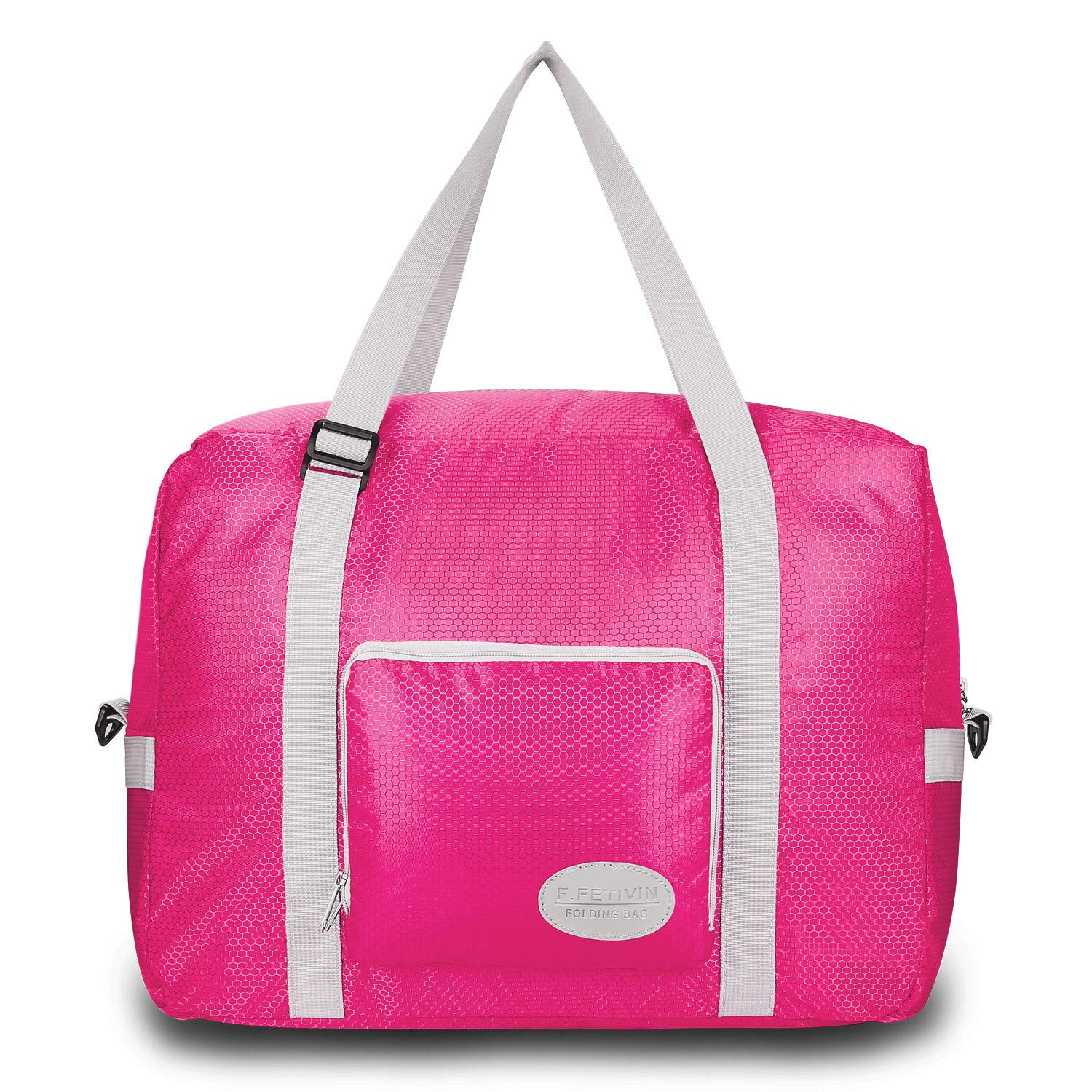 5ecc52274778 Foldable Duffel Bag For Women & Men - Lightweight Duffle For Luggage Gym  Sports (Pink)