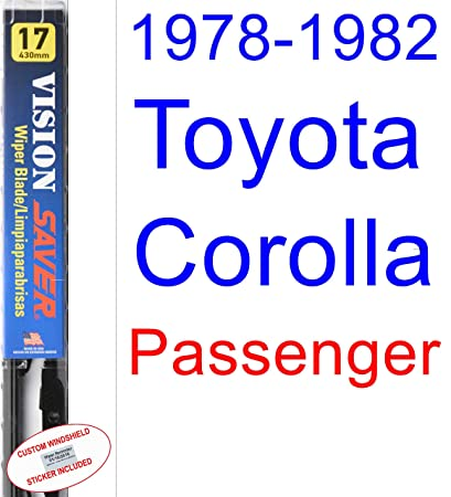 1978 - 1982 Toyota Corolla SR5 hoja de limpiaparabrisas de repuesto Set/Kit (Saver Automotive products-vision Saver) (1979,1980,1981): Amazon.es: Coche y ...
