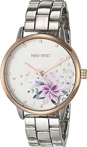 Nine West Women's Crystal Accented Bracelet Watch