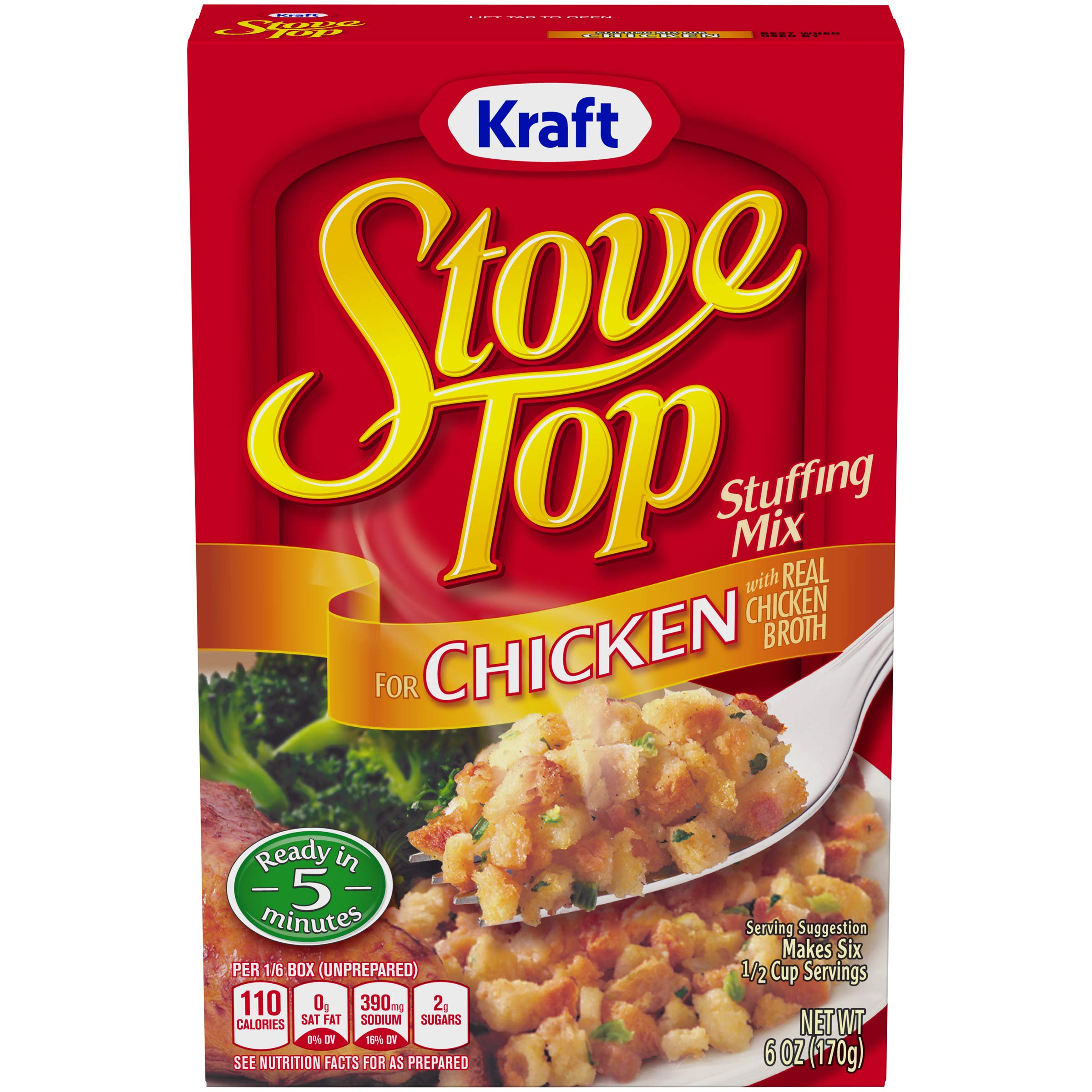 Kraft Stove Top Stuffing Mix for Chicken, 6 oz Box