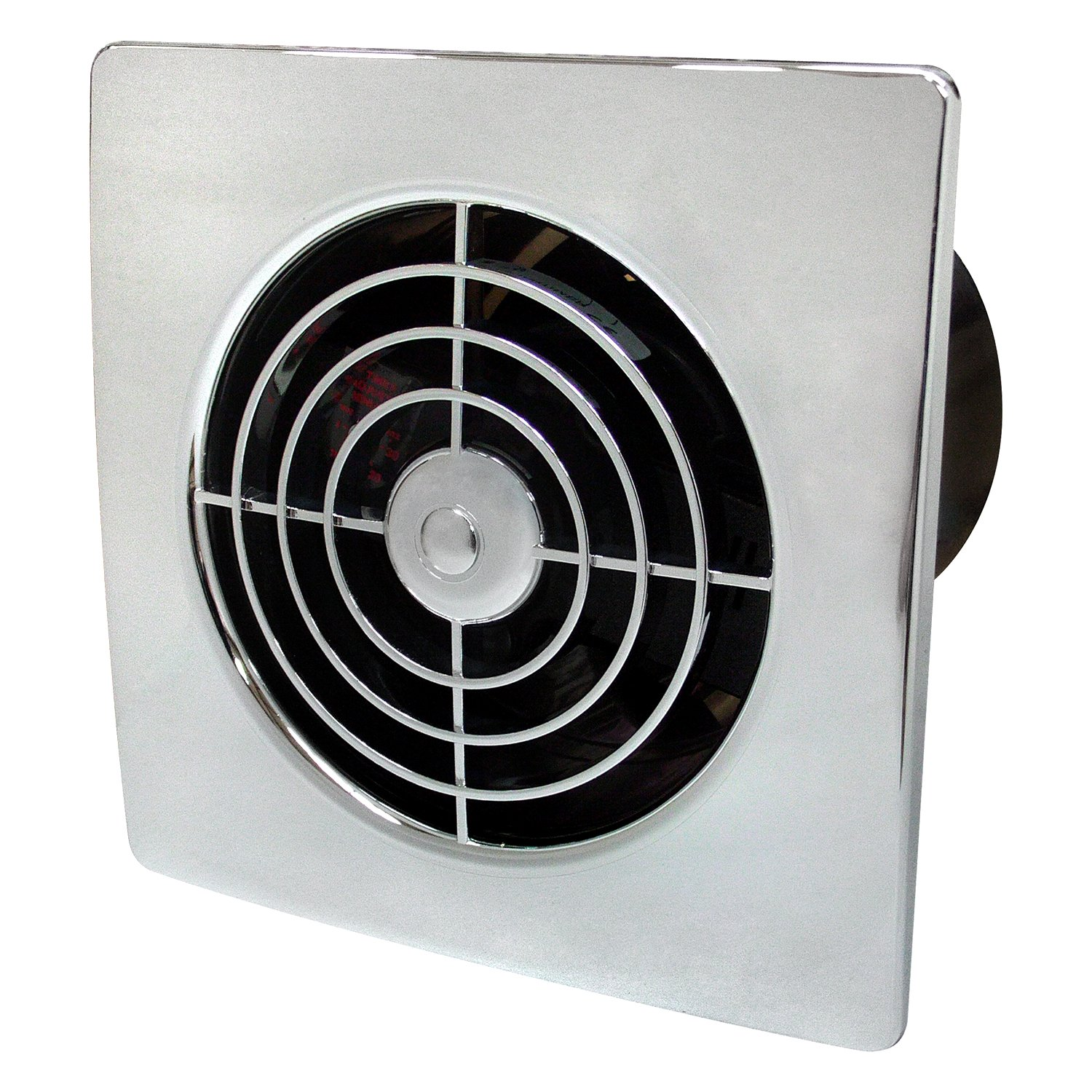 Manrose 100mm Low Profile Extractor Fan/Timer - Chrome LP100STC