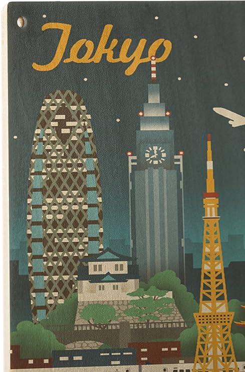 TOKYO JAPAN MODERN CITY LANTERN BLOSSOM Poster Picture Vintage Travel Canvas