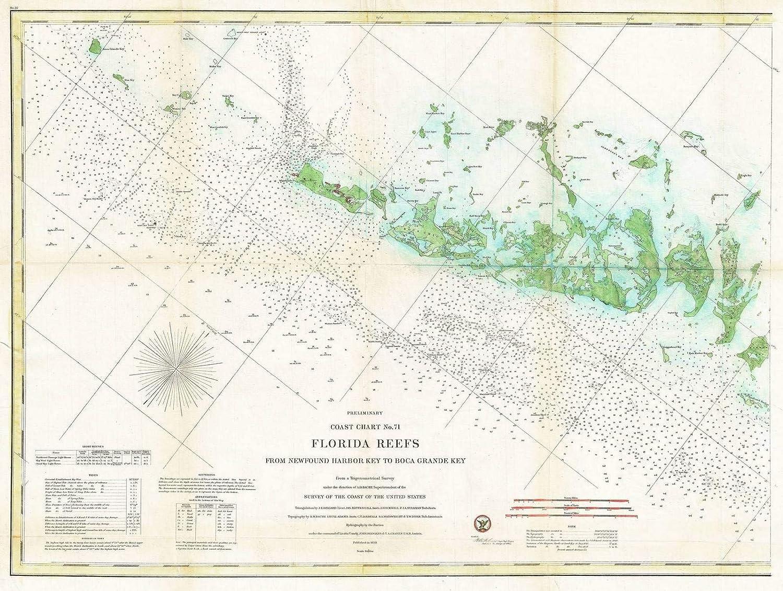 Western Florida Map.Amazon Com Historic Map U S Coast Survey Nautical Chart Or Map