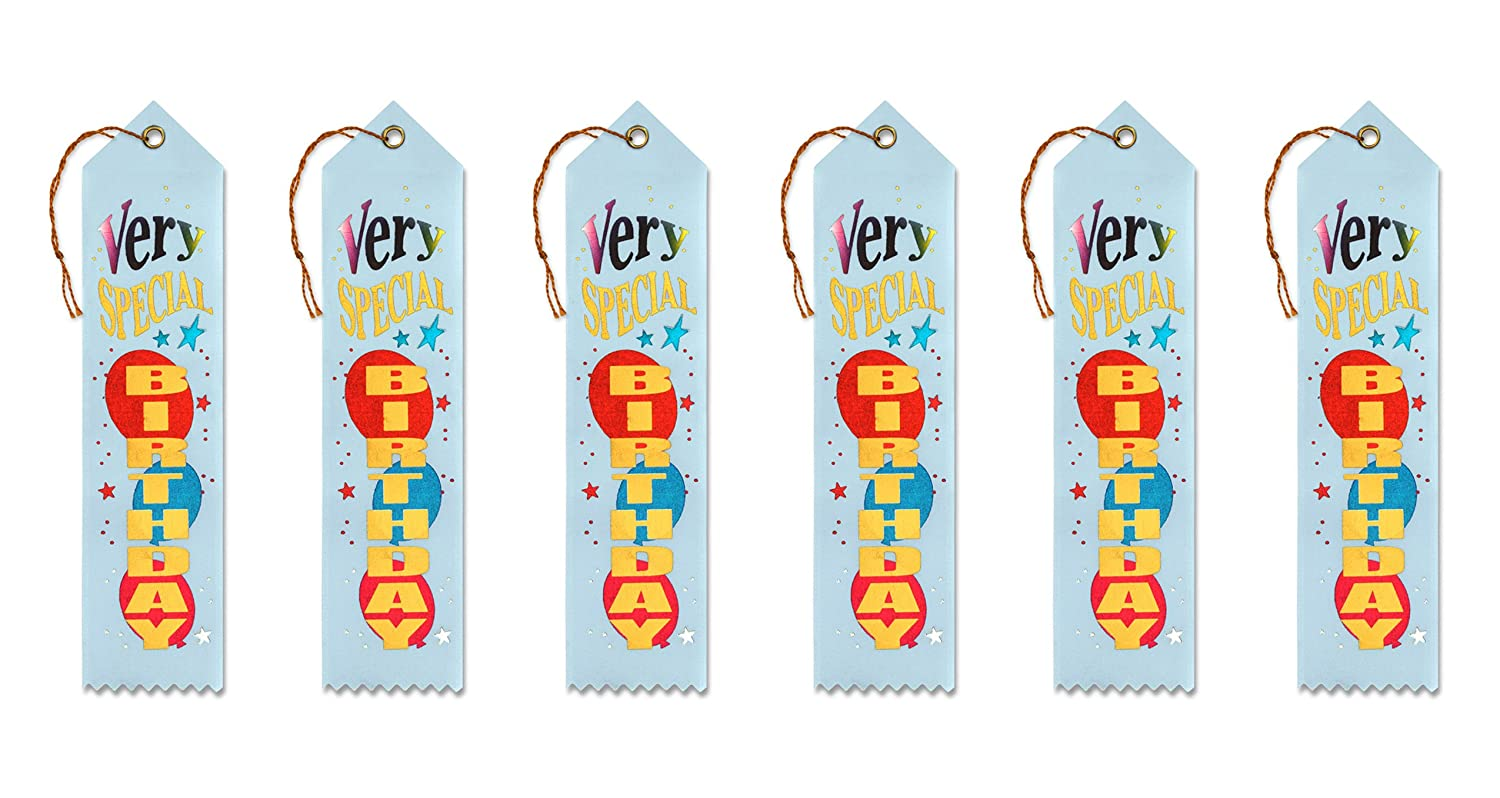 2-Inch by 8-Inch Beistle AR227 6-Pack Very Special Birthday Award Ribbon