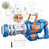 CAMFUN Bubble Machine Gun for Kids, Gatling Blower Guns for Toddlers Boys Girls Age 3-15 Years Outdoor Camping Birthday Party