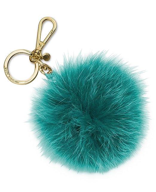dab976135 MICHAEL Michael Kors Extra Large Fur Pom Pom Key Chain in Deep Teal ...
