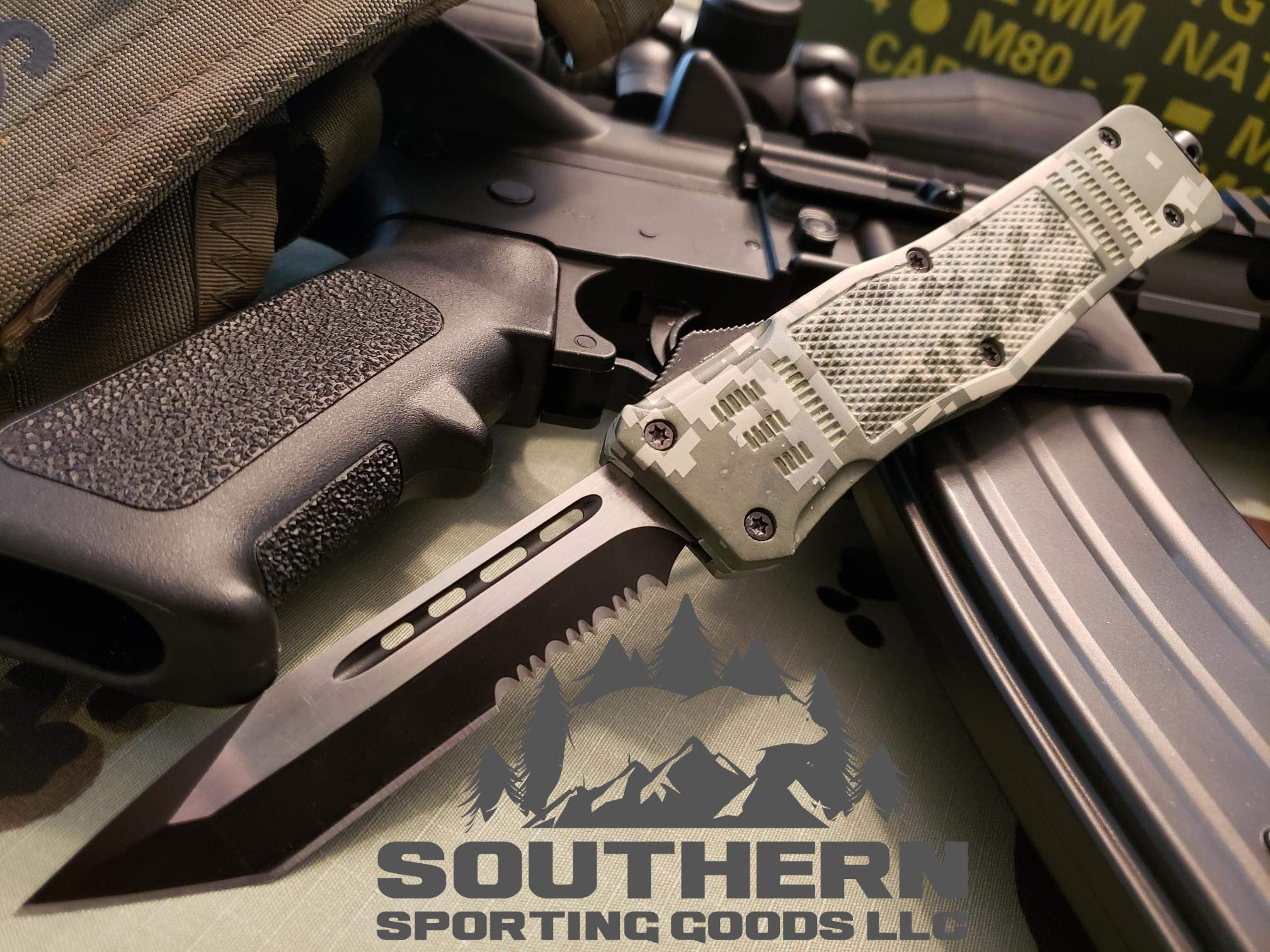 Venom 3TR Assisted Tactical Combat Knife (Tanto Partial Serrated) by Venom Knives (Image #2)