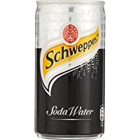 Schweppes Soda Water Mini Cans, 180 ml, (Pack of 24)