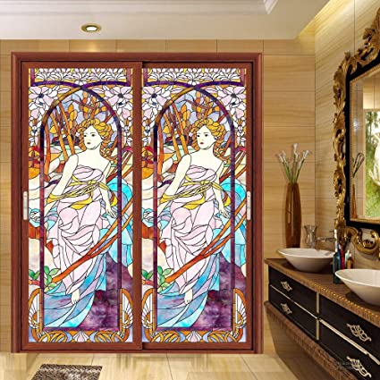 Amazon Wall Of Dragon Static Film Stained Glass Stickers Window