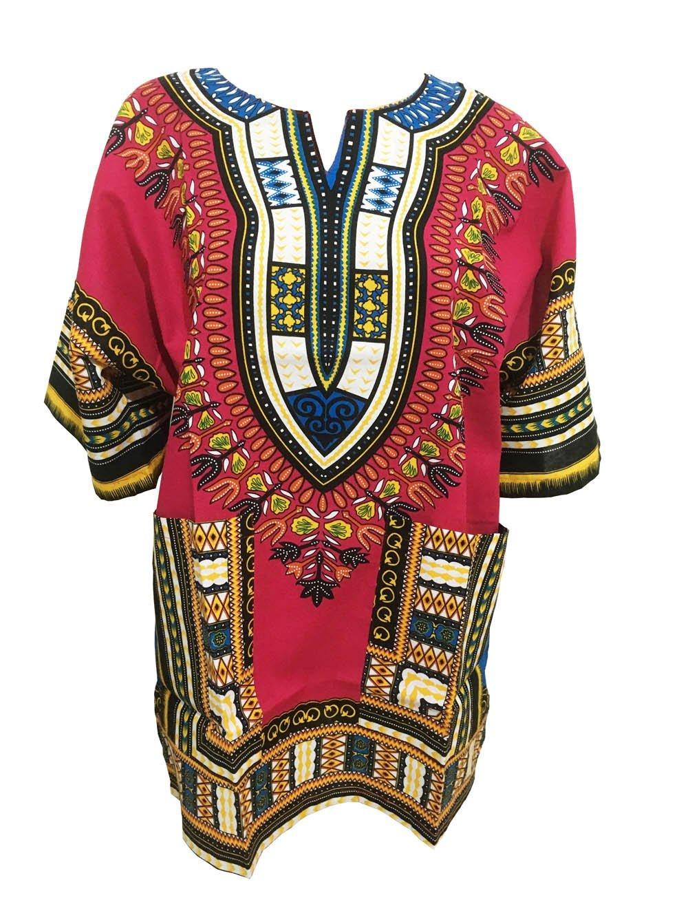 MARUK Africano Dashiki Camicie per Uomini e Donne Manica Corta Africano Dashiki Stampa Tradizionale Africana Estivo