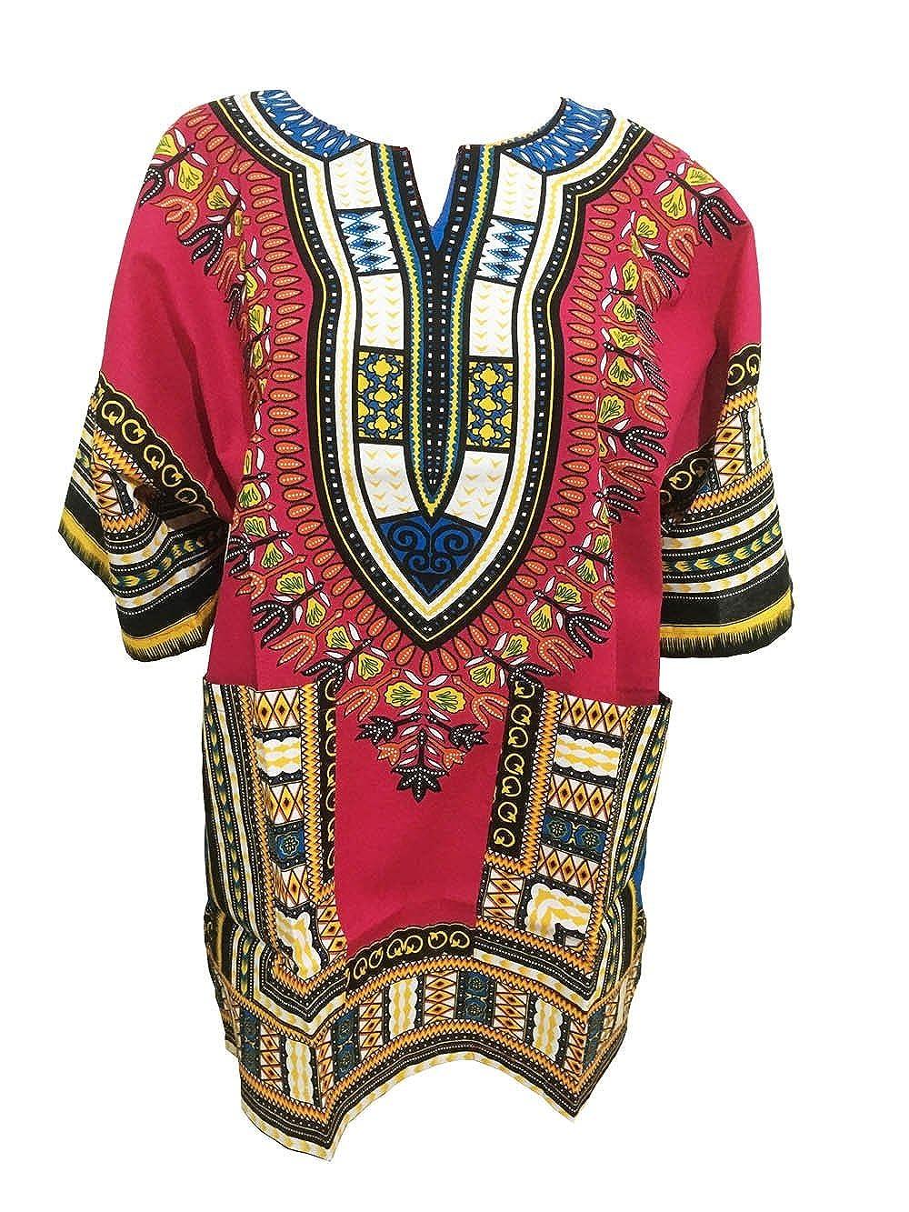 African Dashiki Shirts für Männer und Frauen African Kurzarm Dashiki Traditional Print African Summer Wear