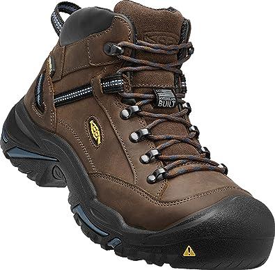 aec4c6e3fb092 KEEN Utility - Men's Braddock Mid (Steel Toe) Waterproof Leather Work Boot,  Bison