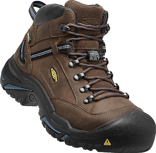 79ded7616f6 KEEN Utility - Men's Braddock Mid (Steel Toe) Waterproof Leather Work Boot