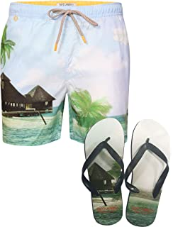 Board Shorts Summer Short Tokyo Laundry Mélangé Surf Homme Coton TlJuFKc31