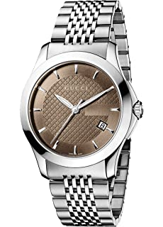 f7e8c82d521 Amazon.com  Gucci Stainless Steel WYNC Watch(Model YA137104)  Watches