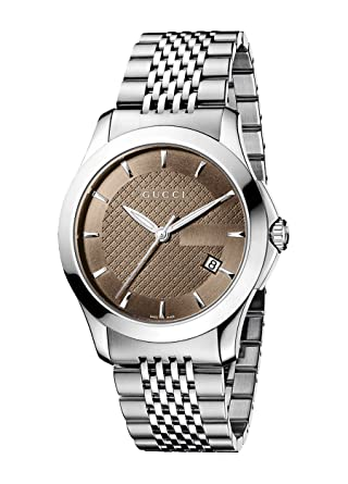 6548057c2e0 Amazon.com  Gucci Gucci Timeless Men s Watch(Model YA126406)  Gucci  Watches