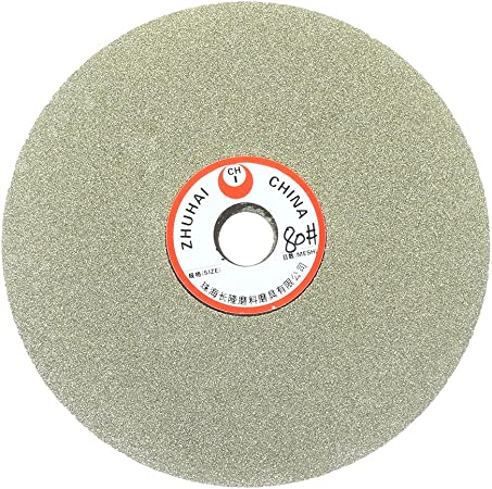 Sscon 6 Inch Grit 180 Diamond Grinding Disc Abrasive Wheel Coated Flat Lap Disc Grinding Sanding Polishing Tool for Gemstone Glass Rock Ceramics