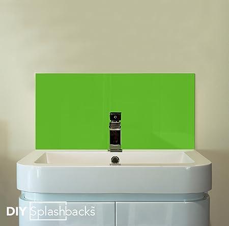 Beau Lime Green Glass Sink Splashback 55cm X 30cm