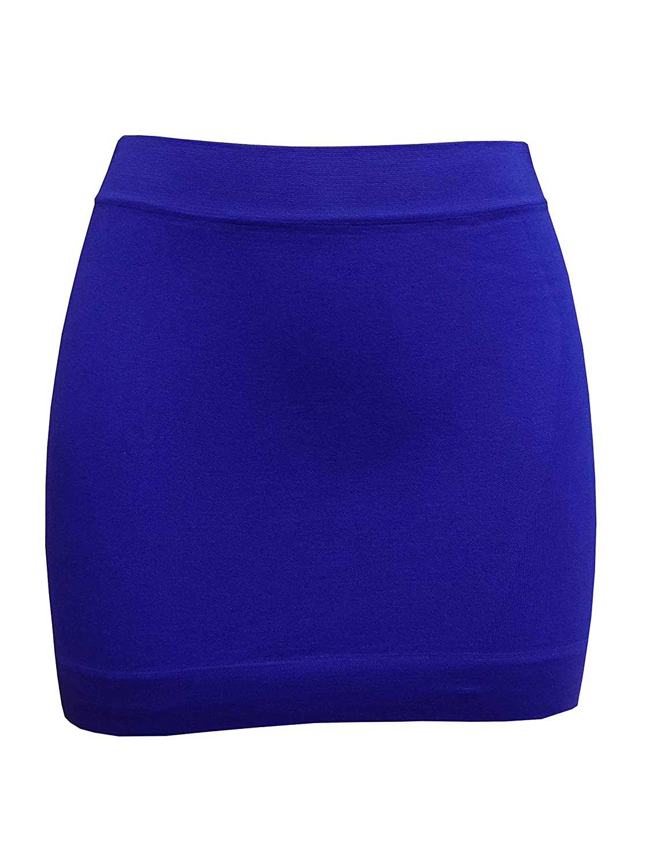 femiss Womens neón Licra Elástico Mini Falda Mujer Elastano Corto ...