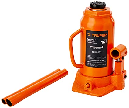 Amazon.com: TRUPER GAT-16 16-Ton Hydraulic Bottle Jacks 18 ...