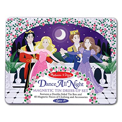 Melissa & Doug Dance All Night Magnetic Tin Dress-Up Set - 40 Magnets Store in Travel Case: Melissa & Doug: Toys & Games