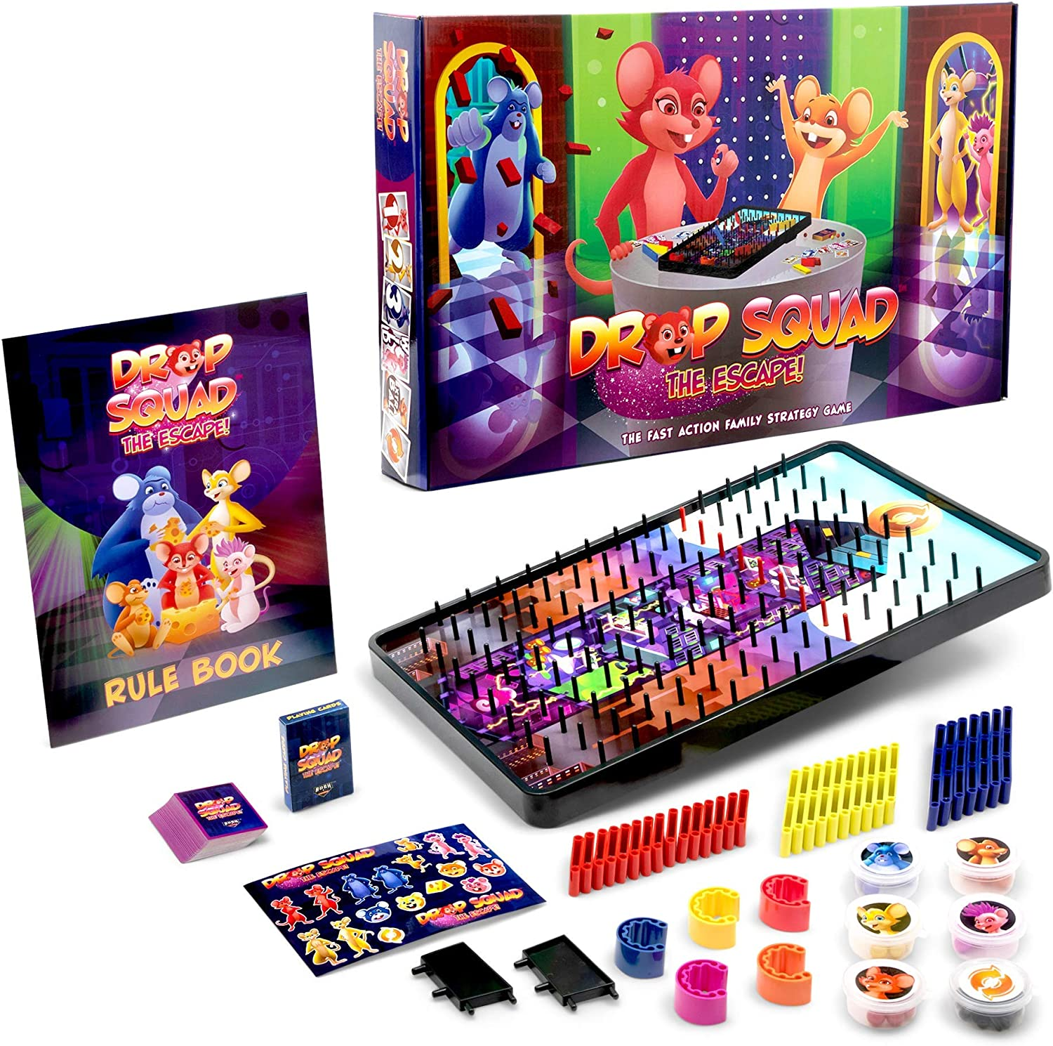 Amazon Com Drop Squad Best Board Game For Kids Adults Best Kid Friendly Table Top Game For A New Family Night Activity Ages 5 6 7 8 9 10 11 12 And Up With Extras Toys Games
