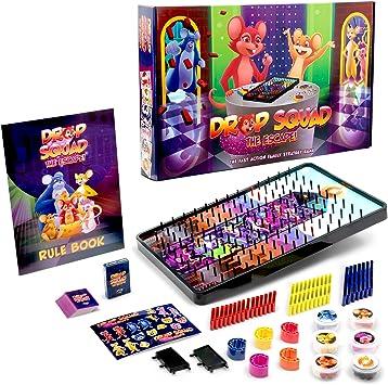 DROP SQUAD Divertido juego de cartas de mármol y plinko para niños y adultos, juego de 5 y más: Amazon.es: Juguetes y juegos